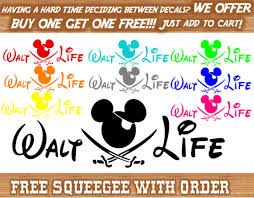Bogo Walt Disney Mickey Castle Life Car Window Decal Sticker Character Vinyl Van