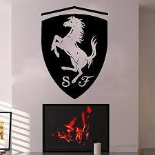 Ferrari Wall Decals Vinyl Sticker Emblem Logo Decal Garage Interior Studio Decor Bedroom Dorm Sm126 B01ernlhzc