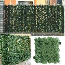 1 3m Artificial Privacy Fence Screen Faux Ivy Leaf Screening Hedge For Outdoor Indoor Decor Garden Backyard Patio Decoration Lazada Ph