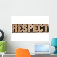 Respect Word Wood Type Wall Decal Wallmonkeys Com