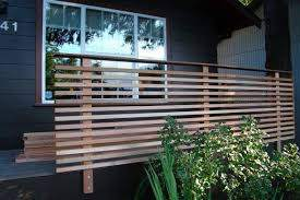 Pin By Angel Avery On Yard Modern Front Yard Patio Fence Fence Design