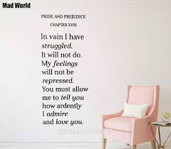 Mad World Pride And Prejudice Quote Book Wall Art Stickers Wall Decal Home Diy Decoration Removable Room Decor Wall Stickers Wall Sticker Decorative Wall Stickerswall Art Stickers Aliexpress