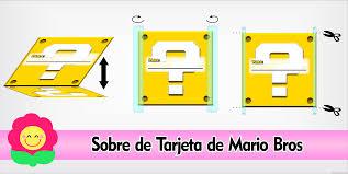 Invitaciones De Mario Bros Tarjeta De Cumpleanos Personalizada