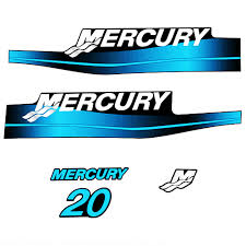 Product Mercury 20hp 2 Stroke Decal Kit Blue Sticker Decal