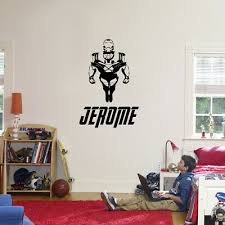 Iron Man Personalized Name Custom Decal Wall Sticker Marvel Avengers St418 23 00 Picclick