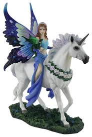 enchantment blue fairy statue