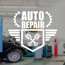 Auto Repair Wall Decal Car Service Logo Vinyl Interior Decoration Window Sticker Garage Shop Mural Removable Wallpaper A101 Wall Stickers Aliexpress