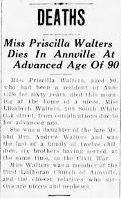 Miss Priscilla Walters - dies - Newspapers.com