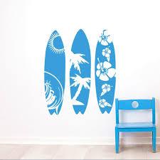 Sea Sport Wall Decal New Design Surfboard Wall Sticker Waves Sea Beach Wall Art Mural Creative Three Surfboard Style Decal Ay952 Wall Stickers Aliexpress