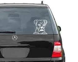 Boxer Car Decal Etsy