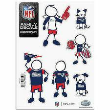 Car Auto Patriots Football Small Family Decal Sticker Set 5x7 Sheet For Sale Online Ebay