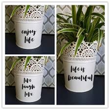 Classic Life Quote Stickers Creative Vinyl Decals For Flower Pot Or Mirror Art Decor 3pcs Wall Stickers Aliexpress