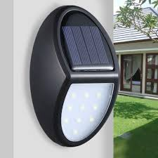 10 Led Solar Power Wall Mounted Light Garden Outdoor Fence Lamp Waterproof For Sale Online Ebay