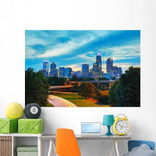 Overview Downtown Charlotte Nc Wall Decal Wallmonkeys Com