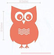Owl Vinyl Decals Wall Art Stickers Children Room Decor 23x15 Inch Coral Amazon Ca Home Kitchen