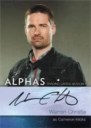 Alphas Season One A2 Autograph Card Warren Christie as Cameron Hicks at  Amazon's Entertainment Collectibles Store