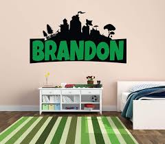 Amazon Com Custom Name Wall Decal Famous Game Wall Decal For Home Bedroom Nursery Playroom Decoration Wide 30 X16 Height Home Kitchen