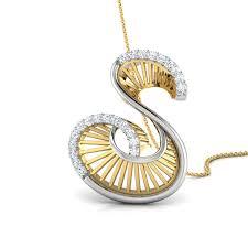 s alphabet locket design gold pendant