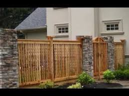 Wooden Fence Top Designs Home Fencing Design Ideas Youtube Woodsinfo