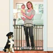 Extra Tall Indoor Pet Gate Fence Safety Baby Kid Dog Swing Doorway Metal Sturdy