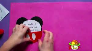 Como Hacer Una Invitacion De Mickey Mouse Youtube