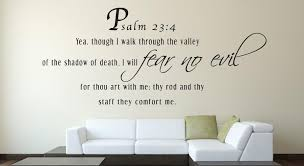 Psalm 23 4 Scripture Bible Verse Wall Decal Nuovocreations