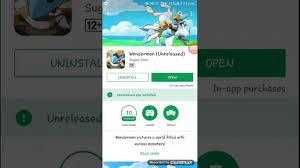 Wondermon pokemon Game Android Google play store install - YouTube