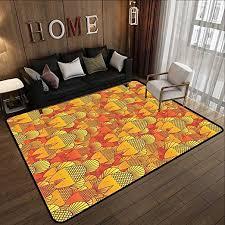 synthetic rug burnt orange decor