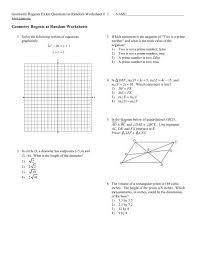 geometry regents at random worksheets