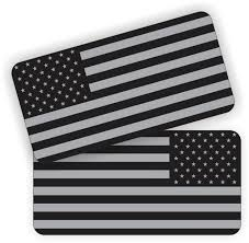 Pair American Flags Black Ops Stealthy Vinyl Decals Stickers Ar 15 Ar15 Lower Helmets Hard Hats Tool Box Motorcycle 1 X 2 Inch Sticker