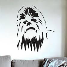 Chewbacca Wall Decal Decor Star Wars Wall Vinyl Wookie Chewie Wall Art G68 Ebay