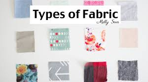 fabric types material for sewing