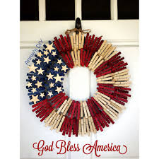 american flag wreath clothespin