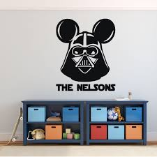 Darth Vader Mickey Mouse Personalized Vinyl Decor Wall Decal Customvinyldecor Com