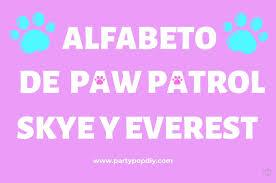 Letras Patrulla Canina Party Pop