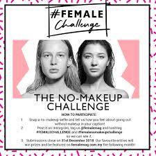 female challenge nomakeup female