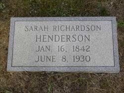 Sarah Adeline Richardson Henderson (1842-1930) - Find A Grave Memorial