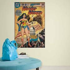 Dc1644slg Wonder Woman Comic Cover Giant Wall Decal Wallpaper Boulevard