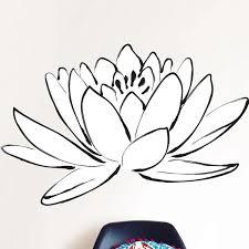 Lotus Flower Wall Decal Wayfair