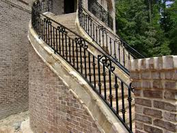 Outdoor Stair Railing Ideas Stairs Design Deck Porch Railings Home Elements And Style Outside Designs Wrought Iron For Steps Easy Staircase Concrete Step Handrail Exterior Residential Crismatec Com