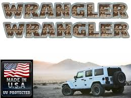 Jeep Wrangler Muddy Tire Tracks 2 Piece Decal Set