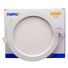 Đèn Led âm trần siêu mỏng đổi màu 12W Nanoco