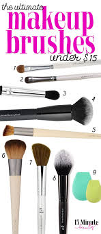 must have makeup brushes under 15 15