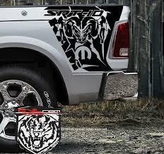 For 1set 2pcs Dodge Ram 1500 Rt Hemi Vinyl Decal For Truck Bed Box Tailgate Side Custom Car Stickers Aliexpress