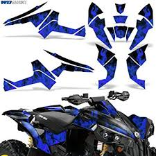 Amazon Com Wholesale Decals Atv Graphics Kit Sticker Decal Compatible With Can Am Renegade X R 500 800 1000 Flames Blue Automotive