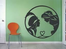 New Aladdin Princess Jasmine Disney Movie Wall Decals For Rooms Walls Stickers Ebay