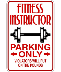 Design With Vinyl Fitness Instructor Parking Only Sign Workout Gym Picture Art Wall Decal Wayfair