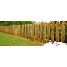 Picket Garden Fence Panels Wood Pales 3ft High Round Top Pack Of 10 Ebp Rt 3ftx10