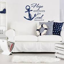 Hebrews 6 19 Quote Decals Vinyl Wall Stickers Home Decor Hope Anchors This Soul