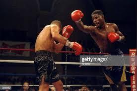 Ivan Robinson in action during the Ivan Robinson vs. Arturo Gatti ...
